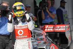Lewis Hamilton, McLaren Mercedes Mercedes gets pole position