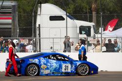 #31 Ferrari of Ontario 458CS: Damon Ockey crashes