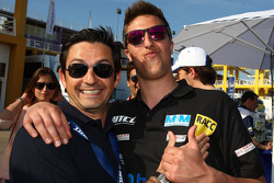 Bruno Correia, safety car driver, and Pepe Oriola, SEAT Leon WTCC, Tuenti Racing Team