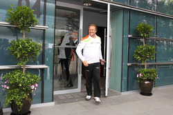 Robert Fearnley, Sahara Force India F1 Team leaves a meeting of the teams concerning the upcoming Bahrain GP