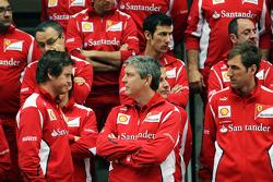 Rob Smedley, Scuderia Ferrari Race Engineer, at a team photograph