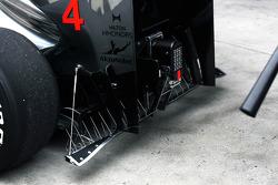 Sensor op de McLaren van Lewis Hamilton, McLaren Mercedes