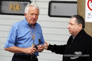Charlie Whiting, FIA Delegate with Jean Todt, FIA President