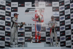 Podium from left: Christopher Zanella, Luciano Bacheta and Alex Fontana