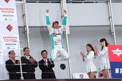 Race winner Kazuki Nakajima