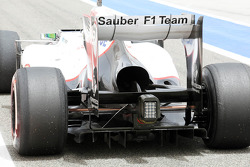 Sergio Perez, Sauber leaves the pits