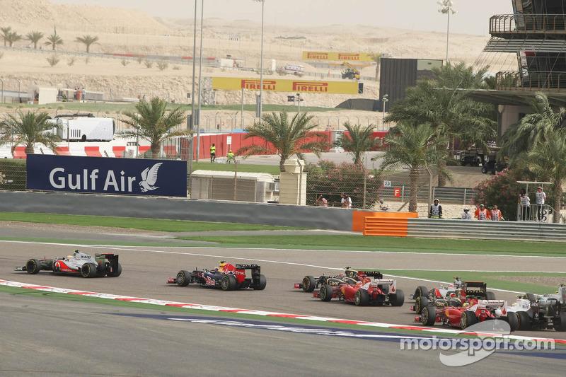 Lewis Hamilton, McLare, start van de race