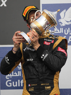 3rd place Romain Grosjean, Lotus Renault F1 Team