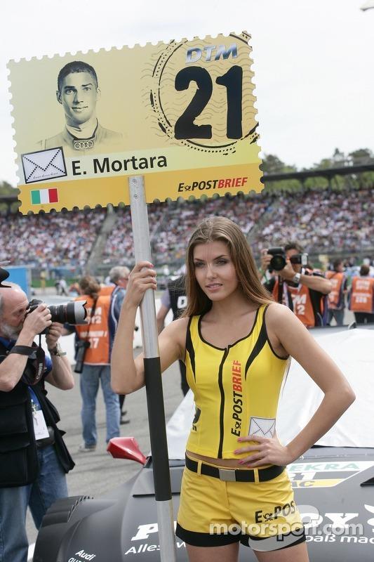Gridgirl für Edoardo Mortara, Audi Sport Team Rosberg, Audi A5 DTM