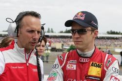 Mattias Ekström, Audi Sport Team Abt Sportsline, Audi A5 DTM with his engineer Alex Stehlig (GER)