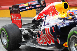 Mark Webber, Red Bull Racing rear suspension and exhaust