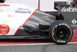 Kamui Kobayashi, Sauber F1 Team engine cover and exhaust