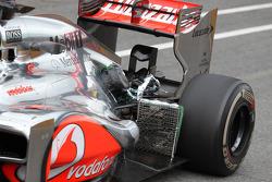 Oliver Turvey, McLaren Mercedes  running with aero sensor in front of rear wheel