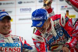 GT500 podium: winner Juichi Wakisaka