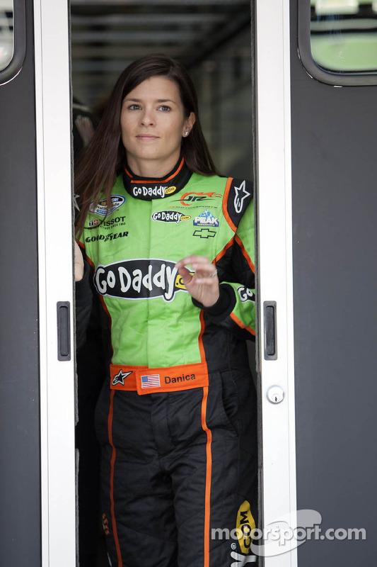 Danica Patrick walks to the Nationwide garage