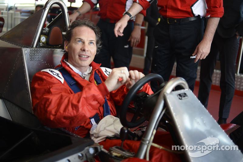 Jacques Villeneuve drives his father's 312 T4