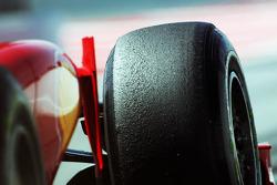 Pirelli tyre on the Ferrari