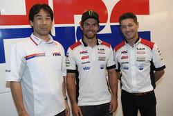 Tetsuhiro Kuwata HRC Direktörü, Cal Crutchlow, LCR Honda, Lucio Cecchinello, LCR Honda Takım Patronu