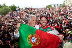Tiago Monteiro, Honda Racing Team JAS, Honda Civic WTCC, mit Rui Santos