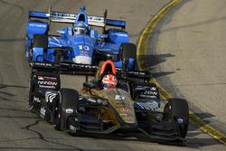 James Hinchcliffe, Schmidt Peterson Motorsports Honda, Tony Kanaan, Chip Ganassi Racing Honda
