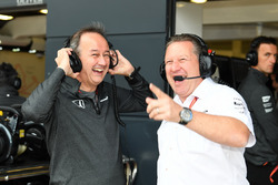 Jonathan Neale, McLaren Managing Director and Zak Brown, McLaren Executive Director