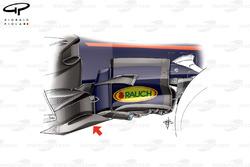 Red Bull RB13 nieuw bargeboard, Britse GP