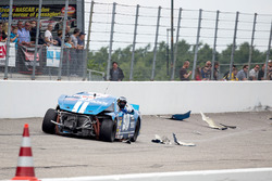 Crash von Marc Goossens, Braxx Racing Ford