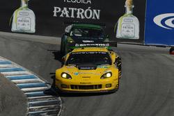 #4 Corvette Racing Chevrolet Corvette C6 ZR1 Chevrolet: Oliver Gavin, Tom Milner #34 Green Hornet Racing Porsche 911 GT3 Cup: Peter LeSaffre, Damien Faulkner, Sebastiaan Bleekemolen