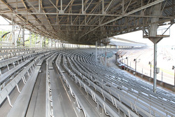 Corner one grandstands