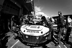 Pit stop for#3 Audi Sport Team Phoenix Audi R8 LMS Ultra: Marc Basseng, Christopher Haase, Frank Stippler, Markus Winkelhock