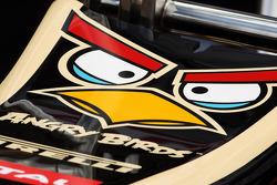 Angry Birds branding on the Lotus F1 E20