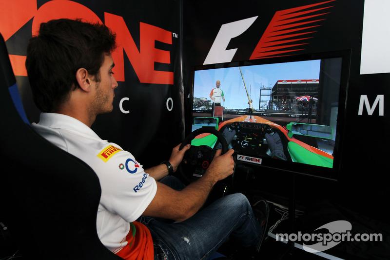 Jules Bianchi, Sahara Force India F1 Team derde rijder in de Fanzone