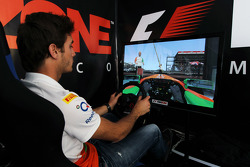 Jules Bianchi, Sahara Force India F1 Team Third Driver at the Fanzone