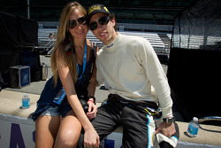 Esteban Guerrieri, Sam Schmidt Motorsports with his girlfriend