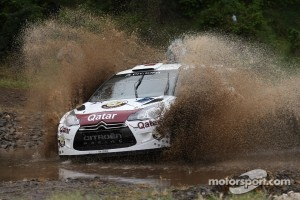 Nasser Al-Attiyah and Giovanni Bernacchini, Citroën DS3 WRC, Qatar World Rally Team in action, 2012