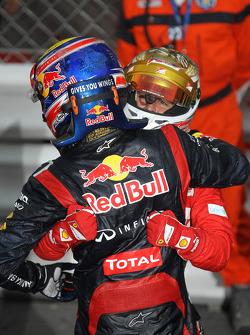 Mark Webber, Red Bull Racing with Fernando Alonso, Scuderia Ferrari