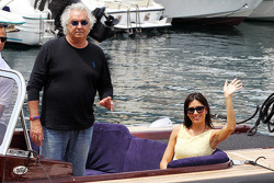Flavio Briatore, with Elisabetta Gregoraci