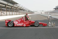 Siegerfoto: Dario Franchitti, Target Chip Ganassi Racing, Honda