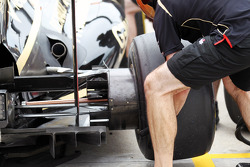Lotus F1 Team practice a pit stop