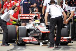 Lewis Hamilton, McLaren Mercedes in the pits