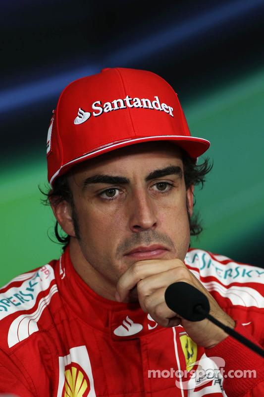 Fernando Alonso, Scuderia Ferrari in de FIA persconferentie na de kwalificaties