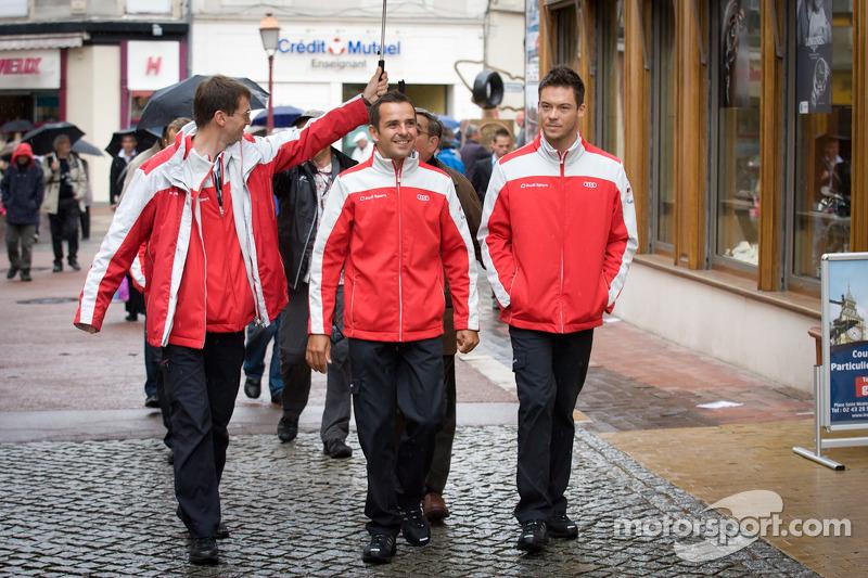 Handafdruk ceremonie: Benoit Tréluyer en Andre Lotterer