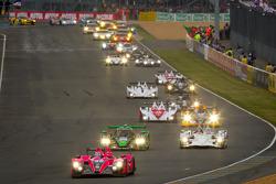 Start: #35 Oak Racing Morgan Nissan: David Heinemeier Hansson, Bas Leinders, Maxime Martin