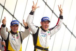 LMGTE Am podium: class winners Patrick Bornhauser and Julien Canal