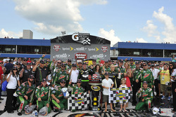 Victory lane: race winner Dale Earnhardt Jr., Hendrick Motorsports Chevrolet