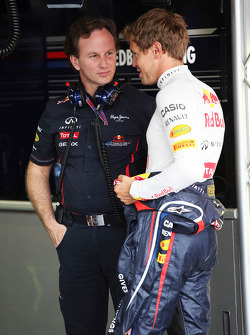 Christian Horner, Red Bull Racing Team Principal en Sebastian Vettel, Red Bull Racing