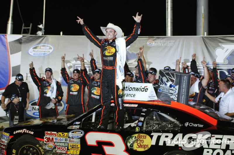 Victory lane: race winner Austin Dillon celebrates