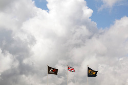 Flags of the FIA, F1 and Great Britain
