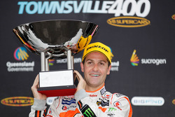 Podium: race winner Jamie Whincup