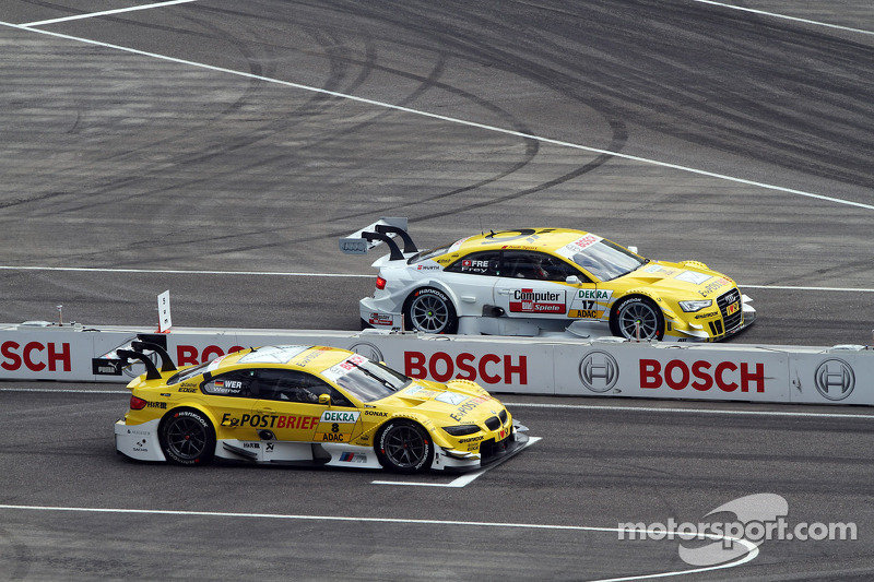 Sunday Round One Dirk Werner, BMW Team Schnitzer BMW M3 DTM against Rahel Frey, Audi Sport Team Abt Audi A5 DTM